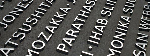 Moveable type. Appreciating the role of typography in the London 7/7 memorial